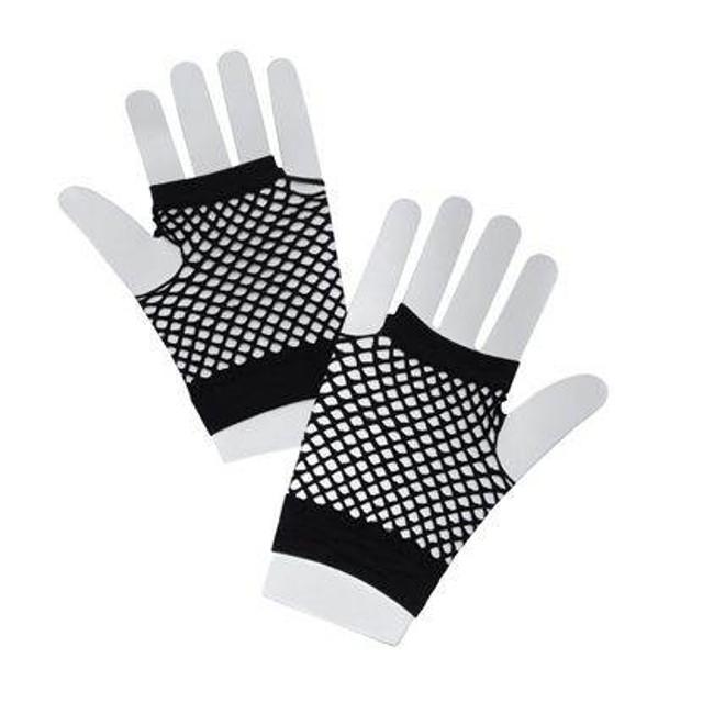 Fishnet Gloves Short Black.