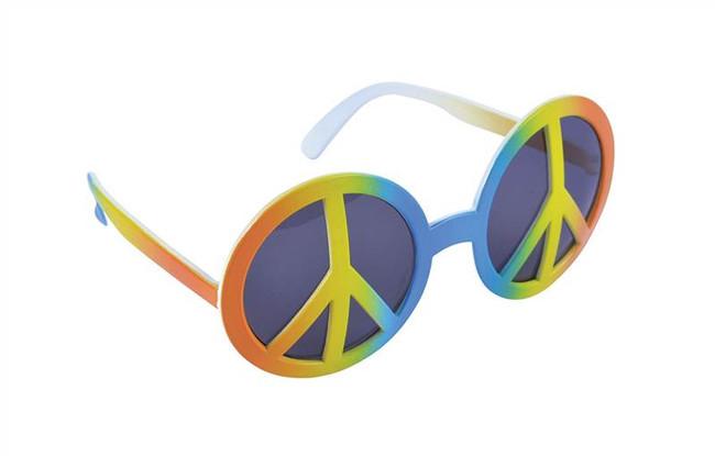 Rainbow Peace Glasses.