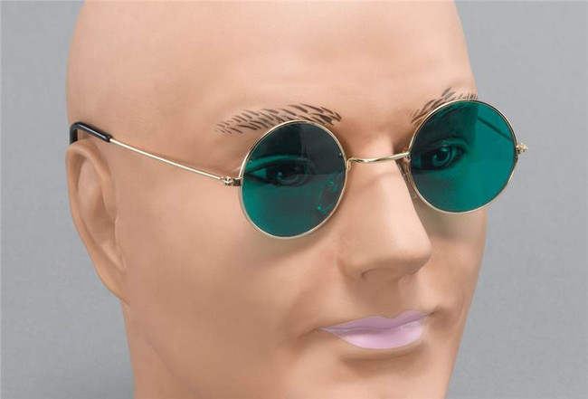 John Lennon Glasses. Green Lens.