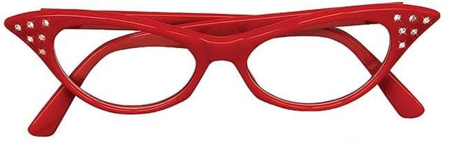 50s Red Diamante Glasses