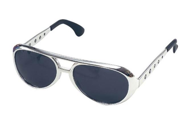 Elvis Sunglasses. Silver.