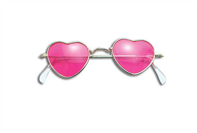 Glasses. Heart Shaped. Pink.