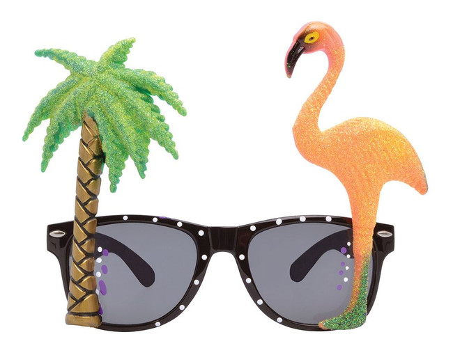 Flamingo / Palm Tree Glasses