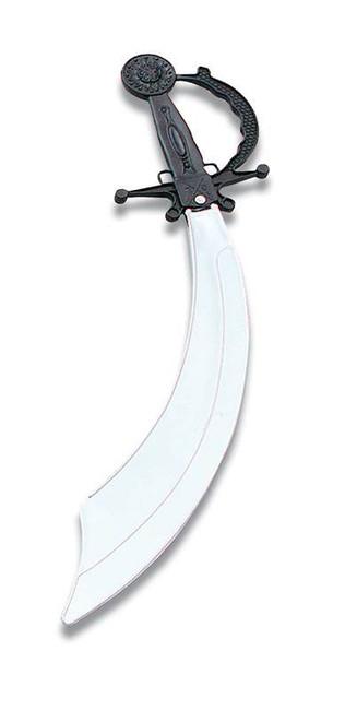 Pirate Cutlass Blk/Silver Blade.