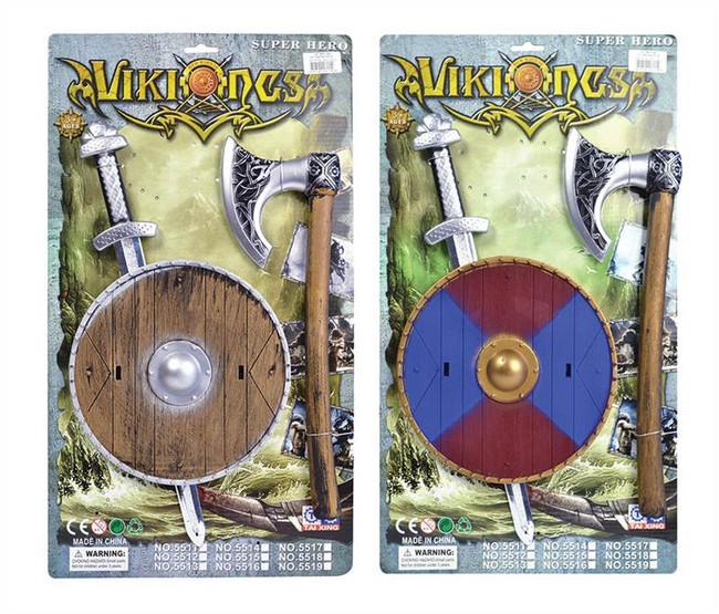 Viking Sword, Shield + Axe Set.