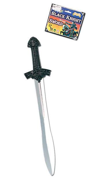 Black Knight Sword. Silver Blade.
