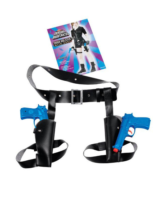 Twin Thigh High Holster With Guns.
