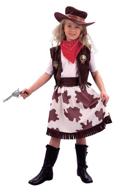 Cowgirl / Cowprint Skirt, Childrens Fancy Dress Costume, Girls