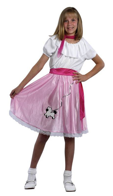 50'S TEENY BOPPER CHILDS FANCY DRESS COSTUME