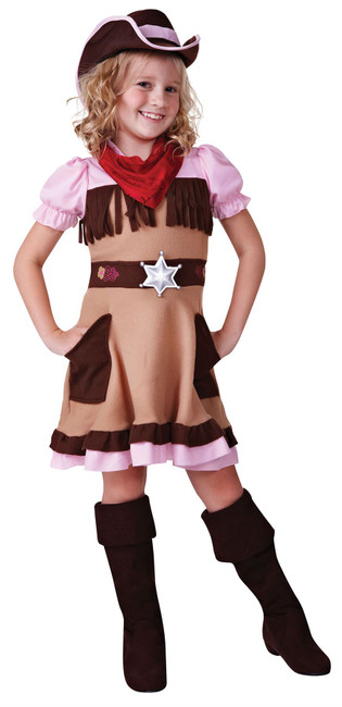 Cowgirl Cutie, Large, Childrens Fancy Dress Costume