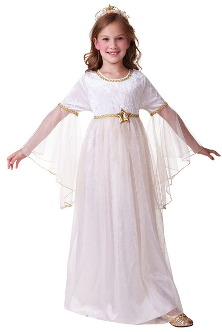 Angel. Long Sleeves, Large, Childrens Fancy Dress Costume