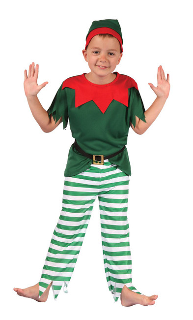 Santa Helper Boy, Large, Childrens Fancy Dress Costume