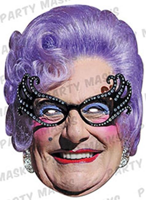 Dame Edna Everage Celebrity Face Card Mask