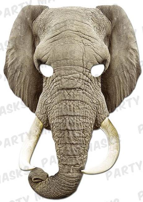 Elephant Animal Face Card Mask