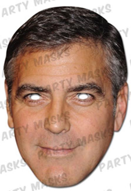 George Clooney Celebrity Face Card Mask