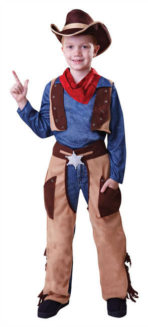Cowboy Wild West, Small, Childrens Fancy Dress Costume