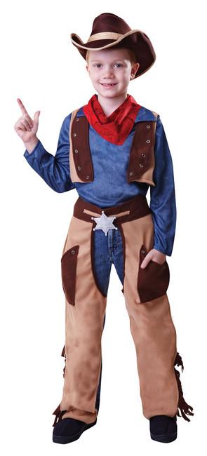 Cowboy Wild West, Large, Childrens Fancy Dress Costume