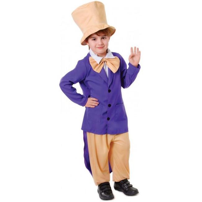 Charlie & The Chocolate Factory Boss, Willy Wonker, Medium, Childrens Fancy Dress Costume