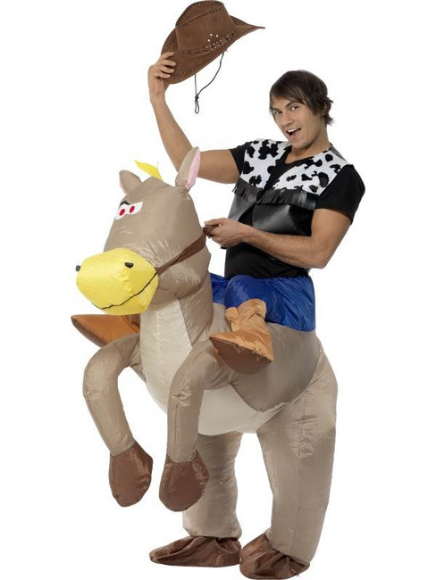 Ride Em Cowboy Inflatable Costume.  One Size