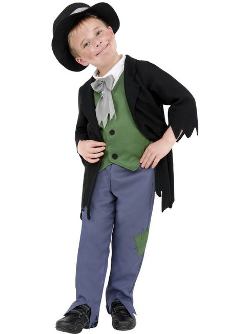 Artful Dodger Victorian Boy Costume, Medium Age 7-9