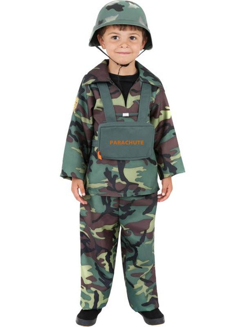 Army Boy Costume, Small Age 4-6