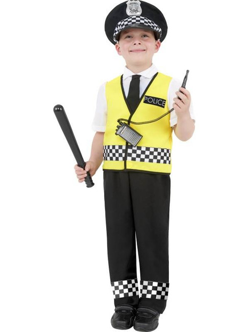 Police Boy Costume, Medium Age 7-9