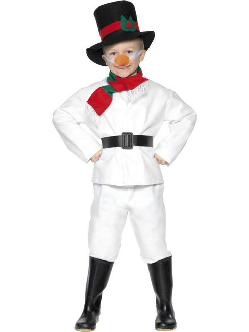 Snowman Costume, BOYS Large Age 9-12