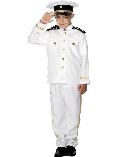 Captain Costume, Child, BOYS Large Age 9-12