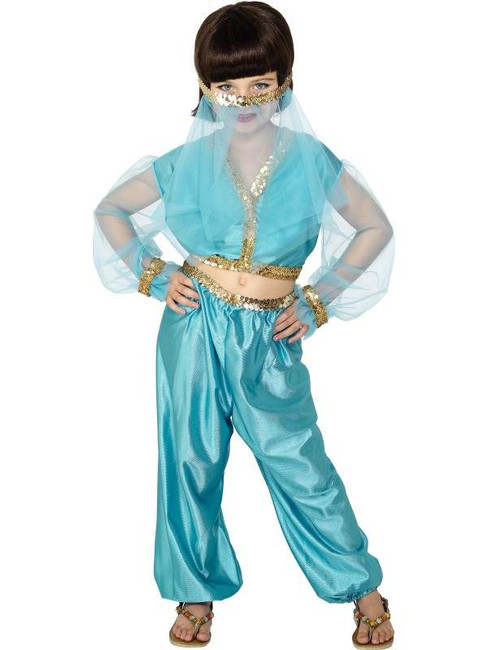 Arabian Princess Costume, GIRLS Medium Age 6-8