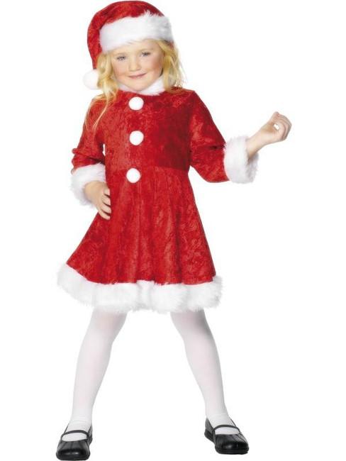 Mini Miss Santa Costume, Medium Age 6-8