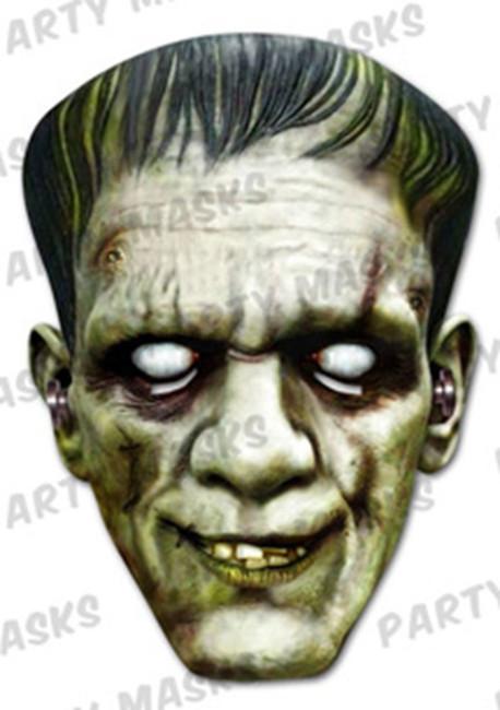 Frankenstein Horror Face Card Mask