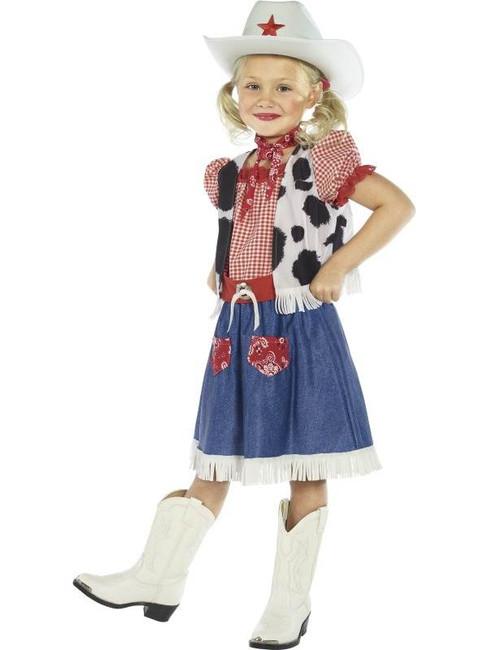 Cowgirl Sweetie Costume, Medium Age 7-9