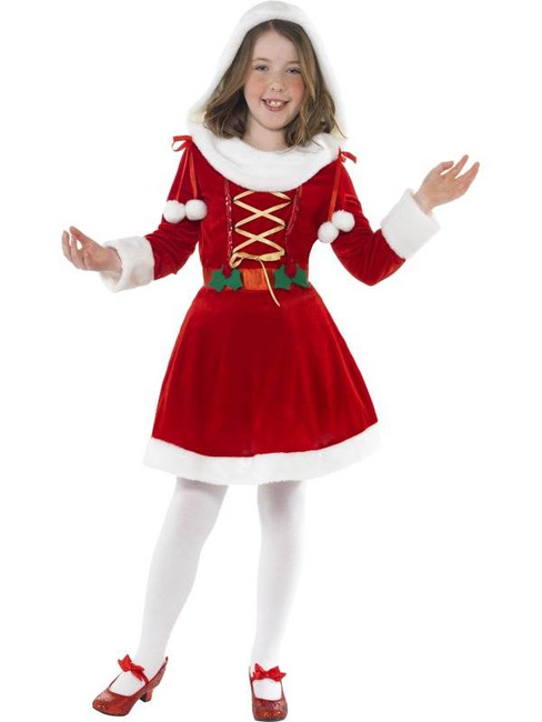 Little Miss Santa Costume, Large Age 10-12