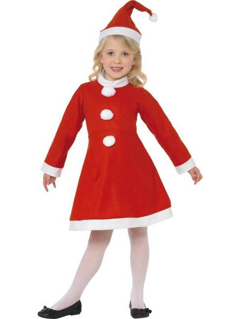 Value Santa Girl Costume, Medium Age 7-9
