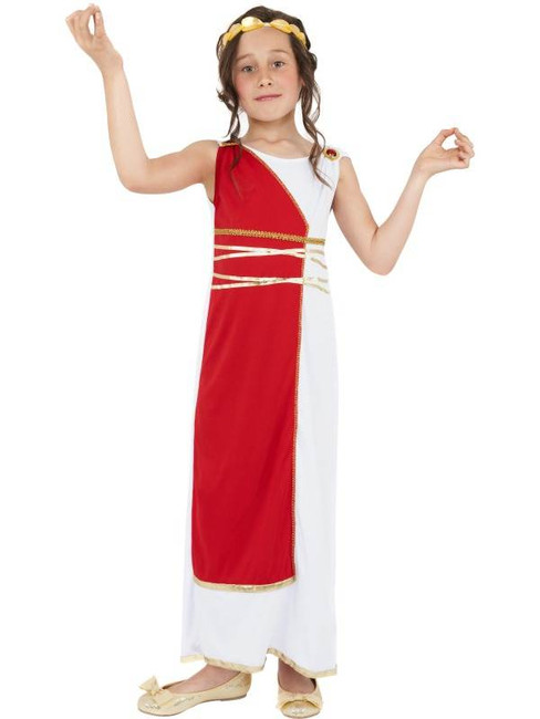 Grecian Girl Costume, Medium Age 7-9