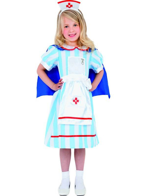 Vintage Nurse Costume, Medium Age 7-9