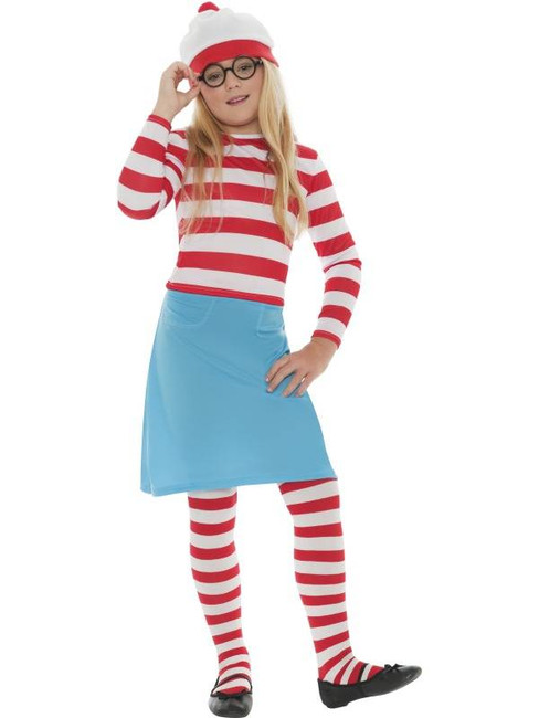 Where's Wally Wenda Child Costume, Large Age 10-12