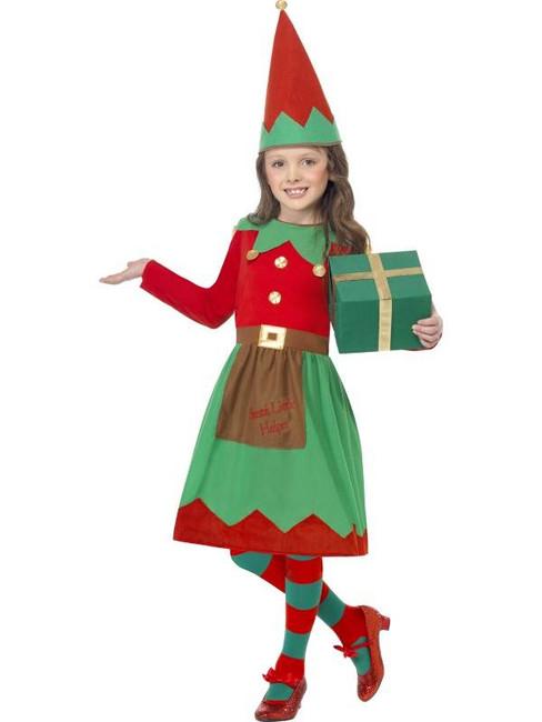 Santa's Little Helper Costume, Medium Age 7-9