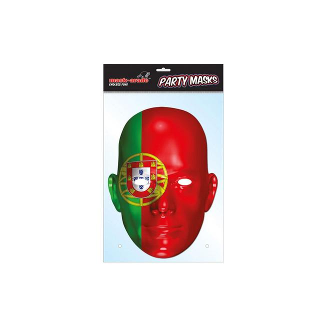 Portugal Flag Face Face Card Mask