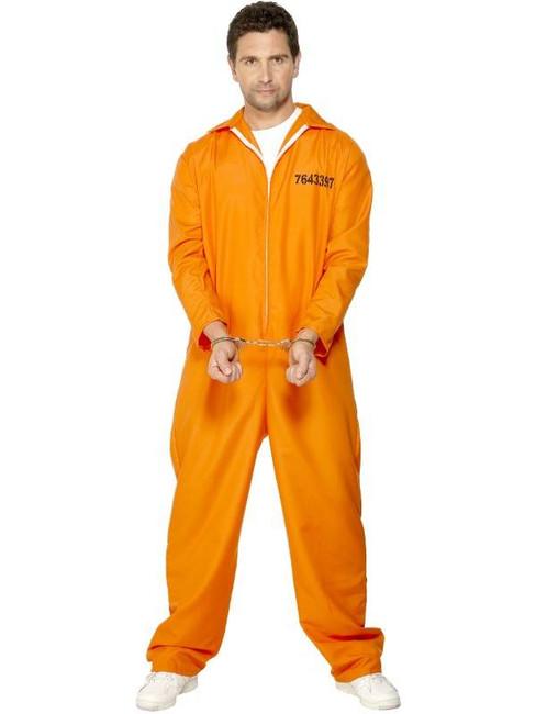 "Escaped Prisoner Costume, Chest 42""-44"", Leg Inseam 33"""