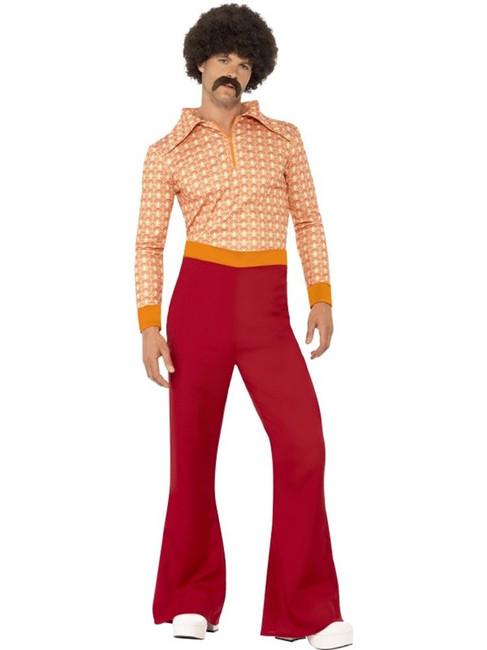 """Authentic 70's Guy Costume, Chest 42""""-44"""", Leg Inseam 33"""""""
