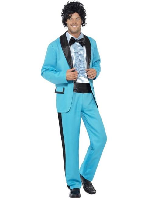 "80's Prom King Costume, Chest 38""-40"", Leg Inseam 32.75"""