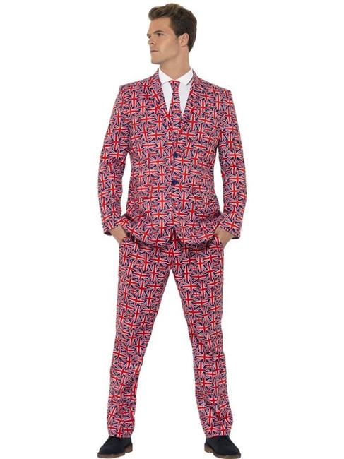 Union Jack Suit, XL, Adult Costumes Stand Out Suits Fancy Dress