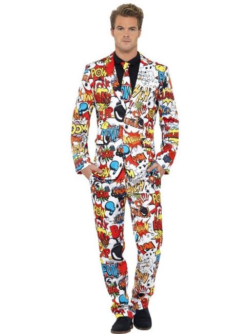 Comic Strip Suit, Medium, Adult Costumes Stand Out Suits Fancy Dress