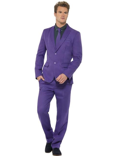 Purple Suit, Medium, Adult Costumes Stand Out Suits Fancy Dress