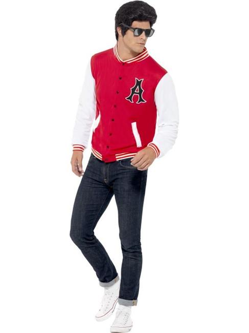 "50's College Jock Letterman Jacket, Chest 42""-44"", Leg Inseam 33"""