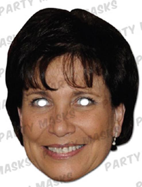 Anne Sinclair Celebrity Face Card Mask