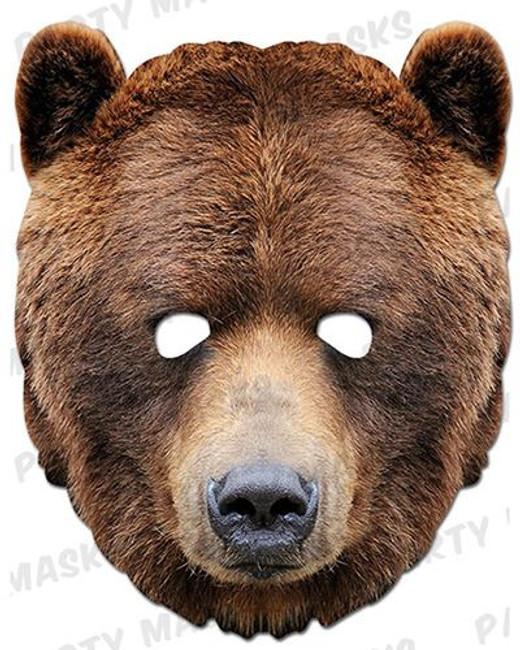 Bear Animal Face Card Mask