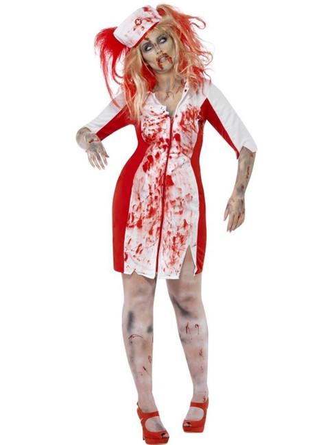 Curves Zombie Nurse Costume, UK 20-22