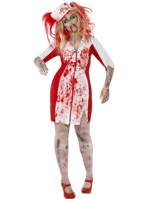 Curves Zombie Nurse Costume, UK 16-18
